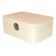 Caja de madera de pino aristas redondas 16 x 8 x 5 cm
