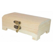 Caja de madera de pino tapa chaflan 8 x 14 x 5 cm
