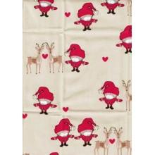 Tela loneta de navidad Santa mini