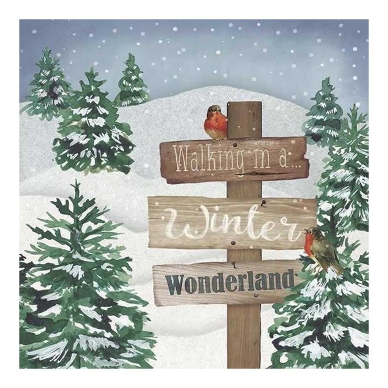 Servilleta de navidad paisaje nevado