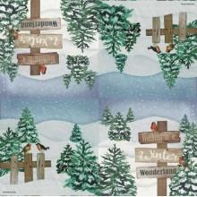 Servilleta de navidad con nieve