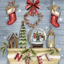 Servilleta decorada navidad Navidad vintage