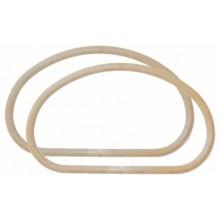 Asas ovaladasde bolso 2 unds. de PVC color beige
