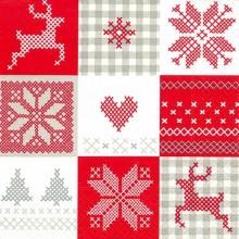 servilleta decorada de Navidad Patchwork de navidad