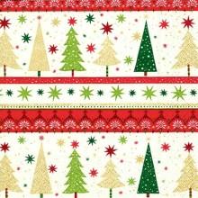 servilleta decorada de Navidad cenefas de árboles