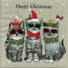 Servilleta decorada de Navidad deseamos feliz navidad