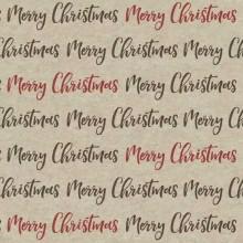 Servilleta decorada de Navidad caligrafía beige