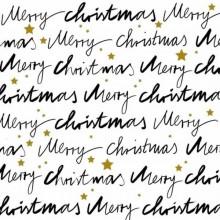 Servilleta decorada de Navidad caligrafía blanca