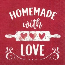 Servilleta decorada Homemade with love