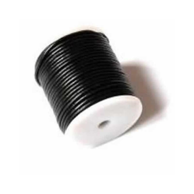 Cordón Cuero 1 mm negro