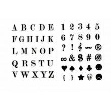 Letras adhesivas 6 mm negras