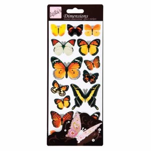 Pegatinas de mariposas adhesivas 3D