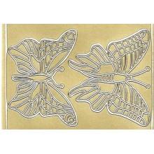 Pegatinas de mariposas metalizadas adhesivas detalle
