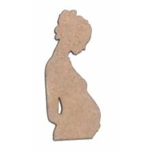 Silueta madera para scrap Embarazada