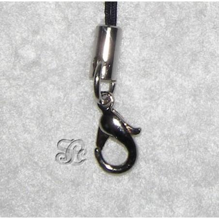 Cordon con broche de plata para movil