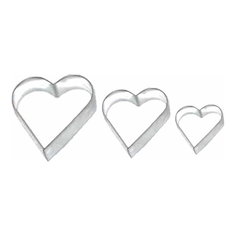 Cortador de Corazón, Lilas 3 unidades