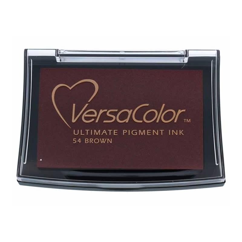 Tinta color marrón opaca Versacolor almohadilla