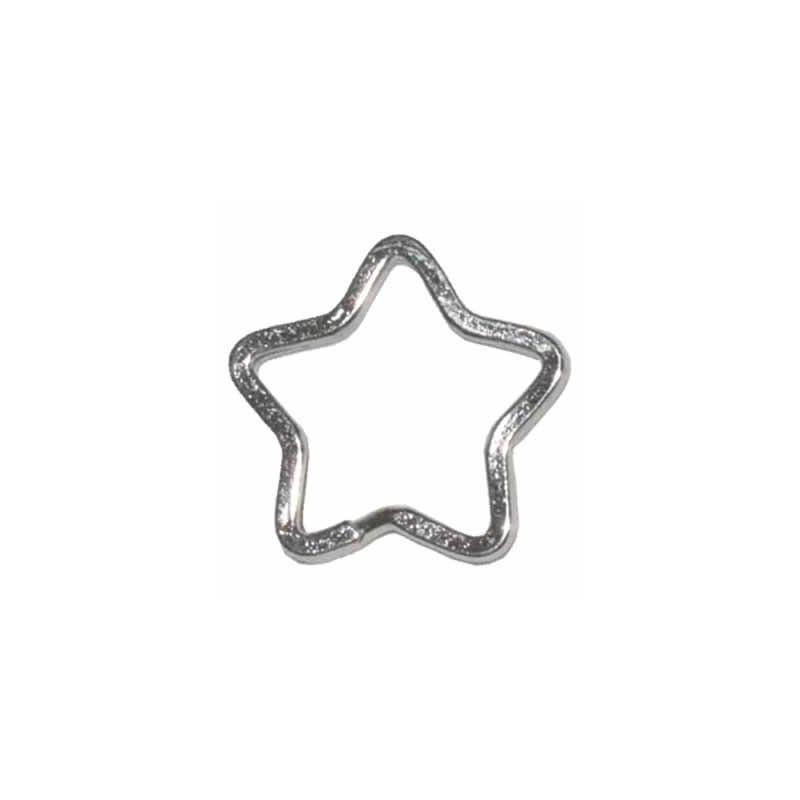 Anilla para llavero espiral de estrella plateado