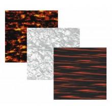 Tres planchas carey de acetato de celulosa, distintas