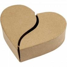 Caja de corazón de cartón...