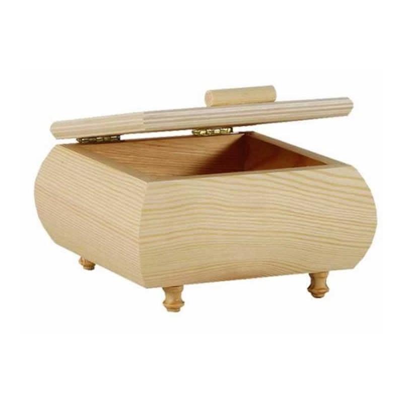 Caja madera con panza pequeña
