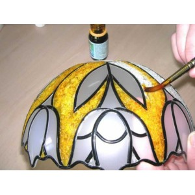 lampara con plomo adhesivo