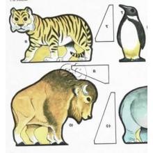 Animales del zoo de marqueteria