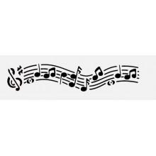 estencil de plantilla de musica
