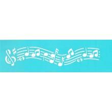 Plantilla esténcil de música 30 cm