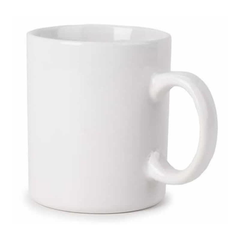 Taza porcelana blanca