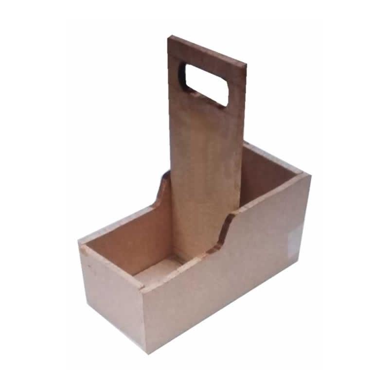 Caja de madera con asa larga