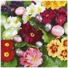 Servilleta decorada pensamientos y huevos de pascua 33 cm