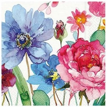 Servilleta decorada flores...