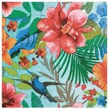 Servilleta decorada paraíso tropical 33 cm
