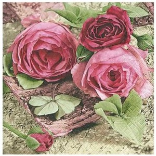 Servilleta decorada Rosas...