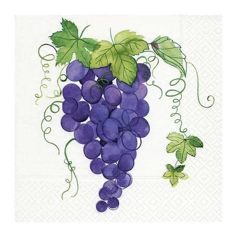Servilleta decorada uvas 33 cm