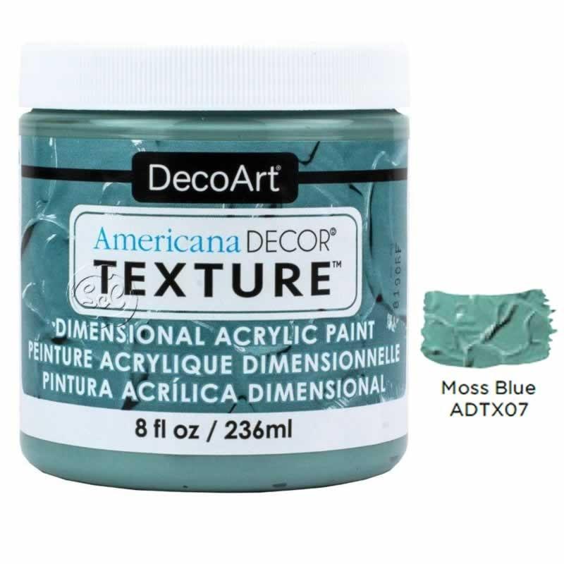 Americana Decor texture dimensional Azul moss ADTX07