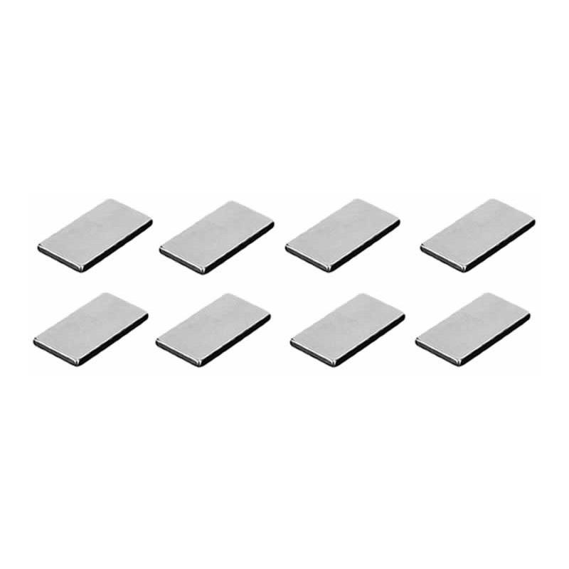 Mini Imán rectangular extra fuerte 1 x 2 cm 8 unidades