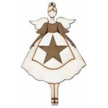 Silueta angelita estrella