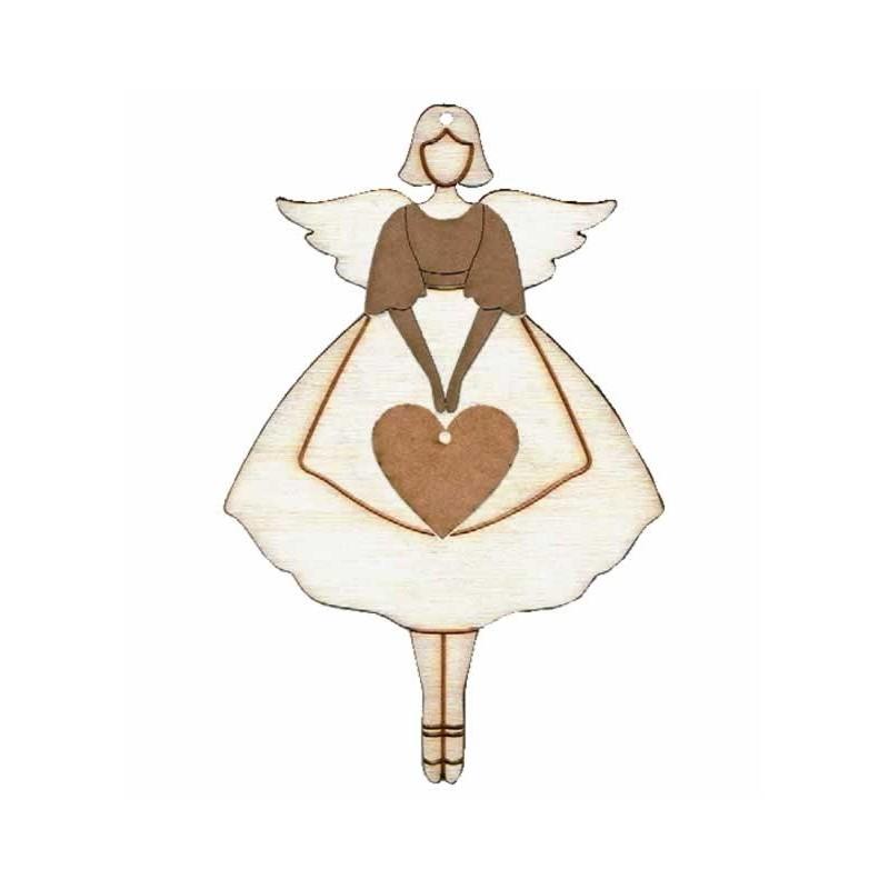 Silueta angelita corazón