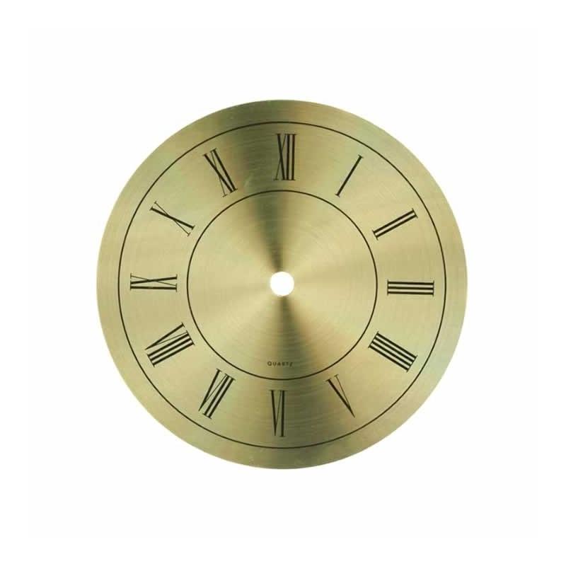 Esfera de reloj de metal dorado 11 cm