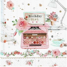 servilleta decoupage Birthday girl