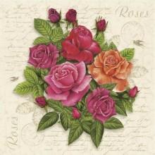 Servilleta decoupage Ramo de rosas