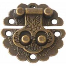 Cierre para caja color bronce festón