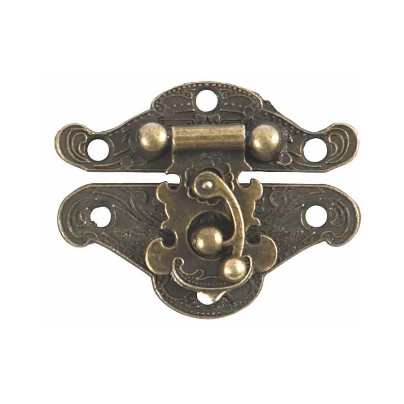 Cierre para joyero bronce antiguo con gancho