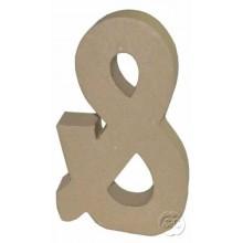 Signo & de carton 3D 20 cm