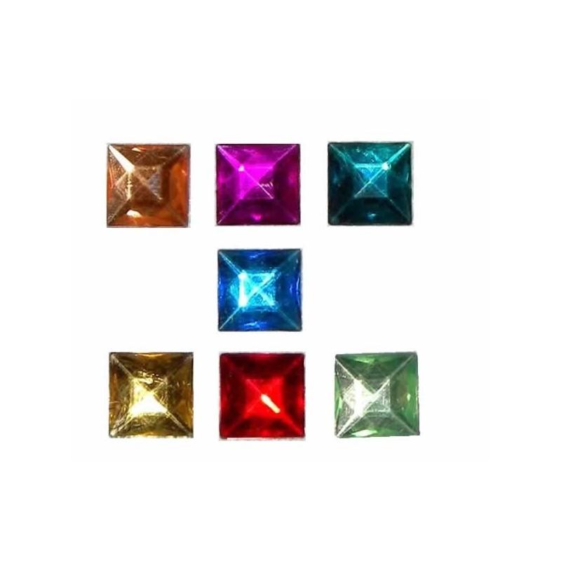 7 Gemas cuadradas base plana
