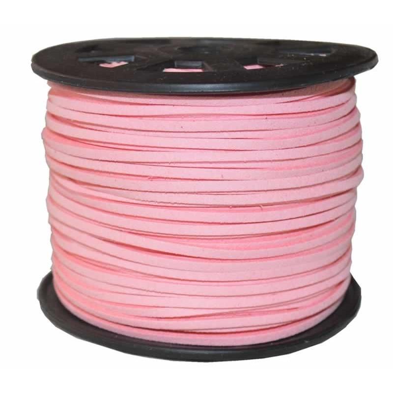 Rollo de antelina rosa
