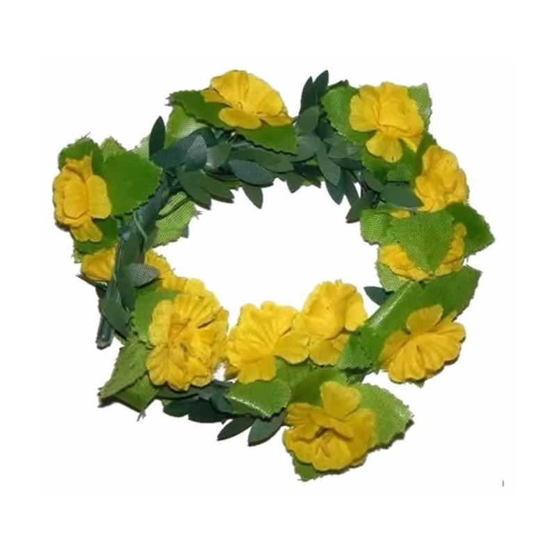 Hiedra de tela con flores amarillas