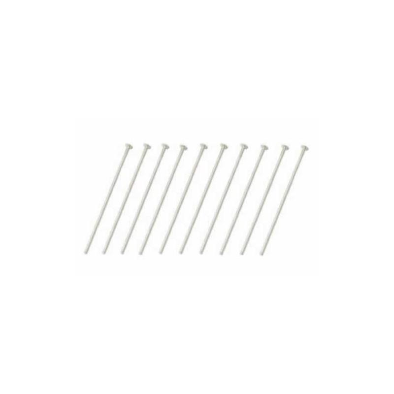 Alfileres con tope plata 36 mm